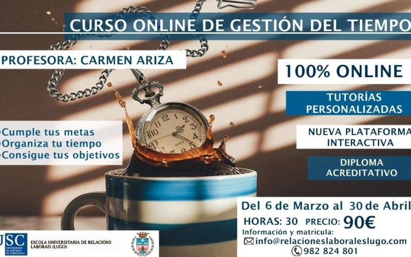 Curso on line Gestión y organización del tiempo