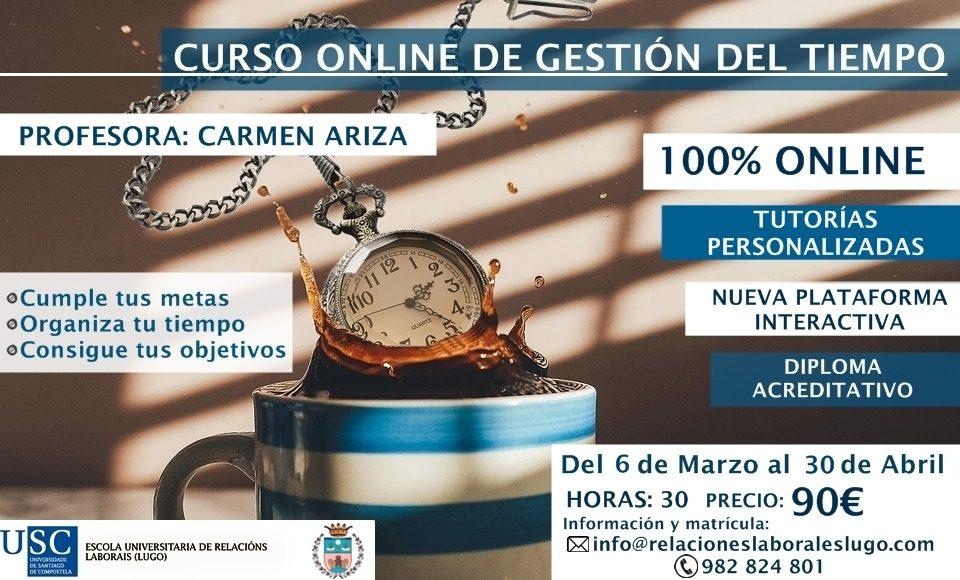 Curso on line Gestión y organización del tiempo. E.U.RR LL Lugo. Psicólogos en Santiago. Confluir Psicología & Coaching