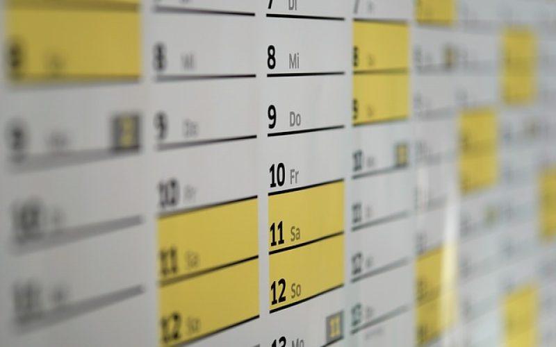 El calendario y los propósitos
