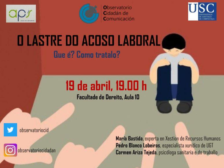 O Acoso laboral. Psicólogos en Santiago. Confluir Psicología & Coaching. Carmen Ariza Tejeda