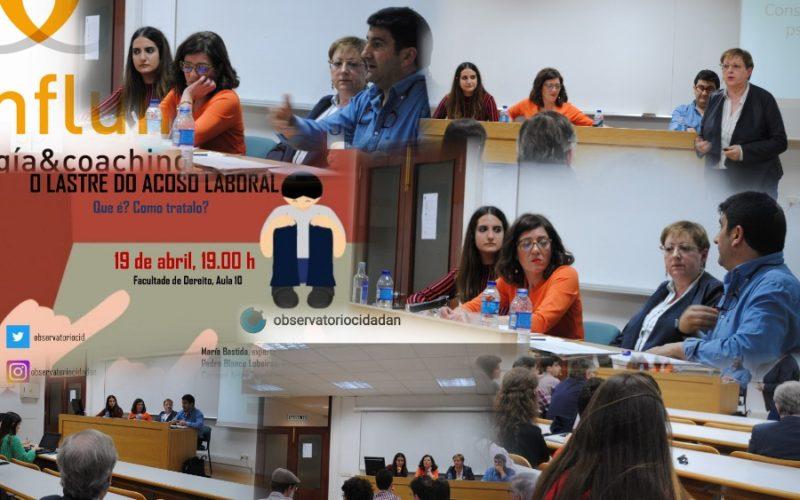Charla sobre acoso laboral o mobbing en Compostela